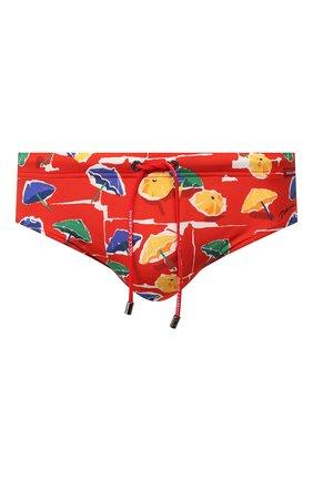 Мужские плавки DOLCE & GABBANA красного цвета, арт. M4A09J/FSGSC | Фото 1 (Материал внешний: Синтетический материал; Кросс-КТ: Пляж; Мужское Кросс-КТ: плавки)