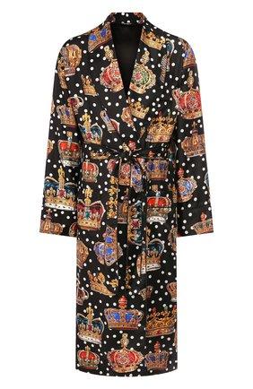 Мужской шелковый халат DOLCE & GABBANA разноцветного цвета, арт. G0936T/HS196 | Фото 1