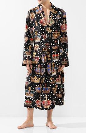 Мужской шелковый халат DOLCE & GABBANA разноцветного цвета, арт. G0936T/HS196 | Фото 2