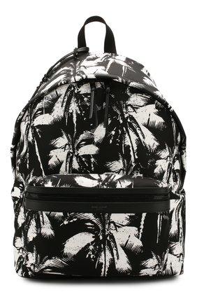 Мужской текстильный рюкзак city SAINT LAURENT черно-белого цвета, арт. 534967/HZU1U | Фото 1