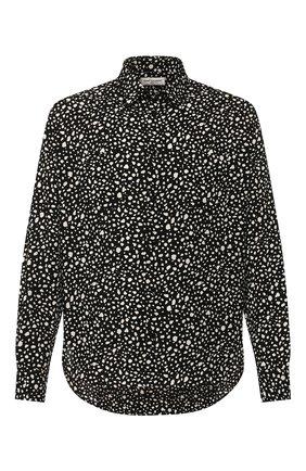 Мужская рубашка из вискозы SAINT LAURENT черно-белого цвета, арт. 520149/Y1A78 | Фото 1