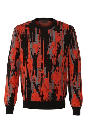 Мужской свитер из смеси хлопка и шелка ZEGNA COUTURE оранжевого цвета, арт. CUF92/110 | Фото 1