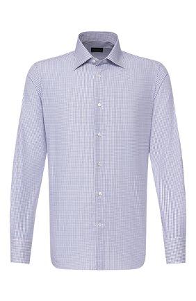 Мужская хлопковая сорочка ERMENEGILDO ZEGNA синего цвета, арт. 701327/9MS0PA | Фото 1