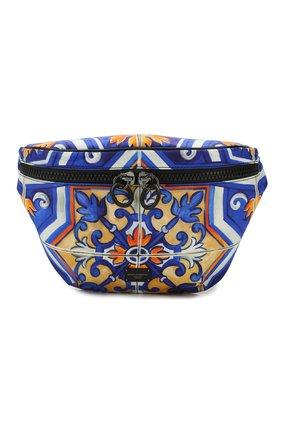 Мужская текстильная поясная сумка DOLCE & GABBANA синего цвета, арт. BM1760/AX534 | Фото 1