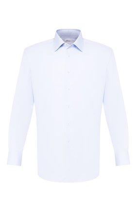 Мужская хлопковая сорочка BRIONI голубого цвета, арт. RCLU16/0804C | Фото 1