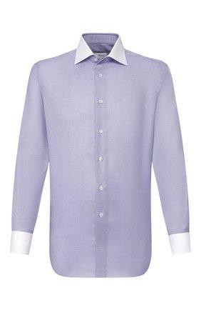 Мужская хлопковая сорочка BRIONI синего цвета, арт. RCL81Q/P905D | Фото 1