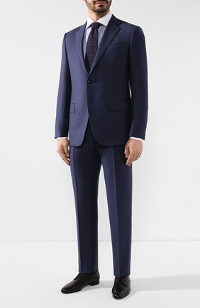 Мужская хлопковая сорочка BRIONI синего цвета, арт. RCL81Q/P905D | Фото 2