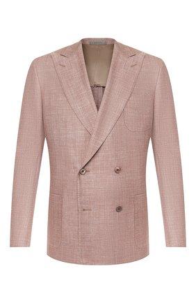 Мужской двубортный пиджак CORNELIANI темно-бежевого цвета, арт. 85XY79-0116229/90 | Фото 1