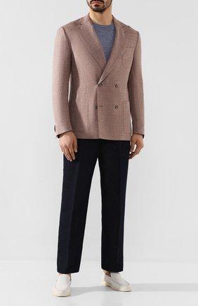 Мужской двубортный пиджак CORNELIANI темно-бежевого цвета, арт. 85XY79-0116229/90 | Фото 2