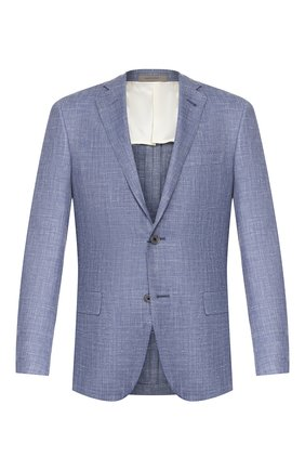 Мужской пиджак из смеси шерсти и шелка CORNELIANI голубого цвета, арт. 85XY75-0116229/90 | Фото 1