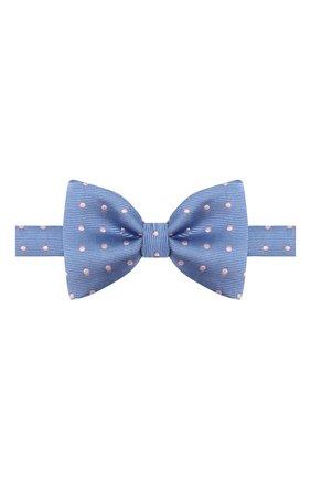 Мужской шелковый галстук-бабочка LANVIN голубого цвета, арт. 1303/B0W TIE | Фото 1