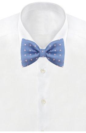 Мужской шелковый галстук-бабочка LANVIN голубого цвета, арт. 1303/B0W TIE | Фото 2