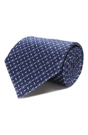 Мужской комплект из галстука и платка LANVIN синего цвета, арт. 4256/TIE SET   Фото 1