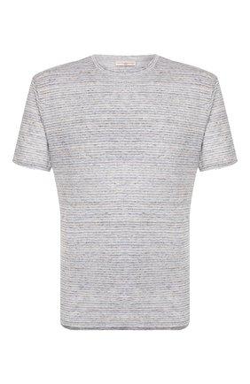 Мужская льняная футболка LUCIANO BARBERA светло-серого цвета, арт. 119565/81179   Фото 1