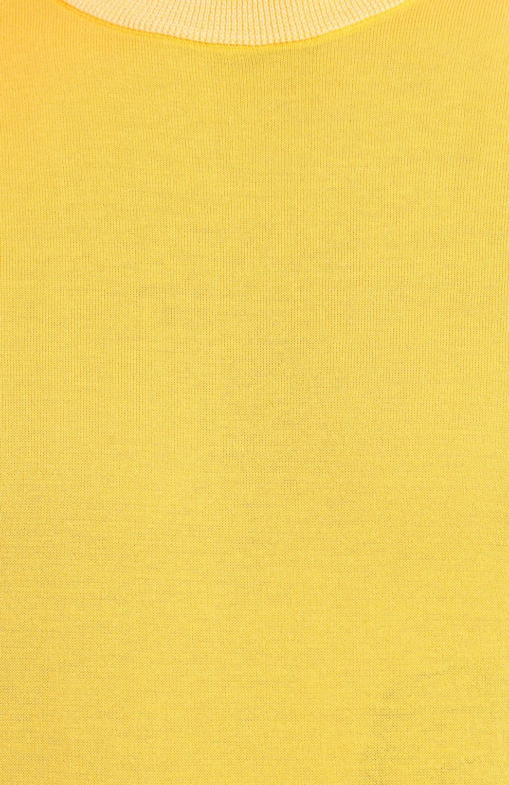 Мужской хлопковый джемпер LUCIANO BARBERA желтого цвета, арт. 109G05/53341   Фото 5