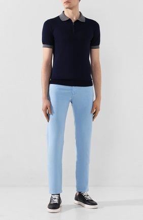 Мужское хлопковое поло LUCIANO BARBERA темно-синего цвета, арт. 109G03/53341 | Фото 2