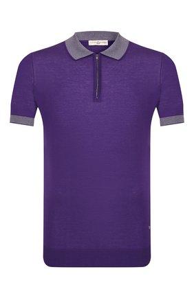 Мужское хлопковое поло LUCIANO BARBERA фиолетового цвета, арт. 109G03/53341 | Фото 1