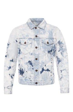 Мужская джинсовая куртка OFF-WHITE голубого цвета, арт. 0MYE005R203860201414 | Фото 1