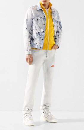 Мужская джинсовая куртка OFF-WHITE голубого цвета, арт. 0MYE005R203860201414 | Фото 2