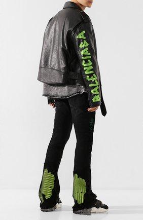 Мужские джинсы OFF-WHITE черного цвета, арт. 0MYA059R20G940128688 | Фото 2
