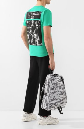 Мужской текстильный рюкзак OFF-WHITE черно-белого цвета, арт. 0MNB019R20E480339908 | Фото 2