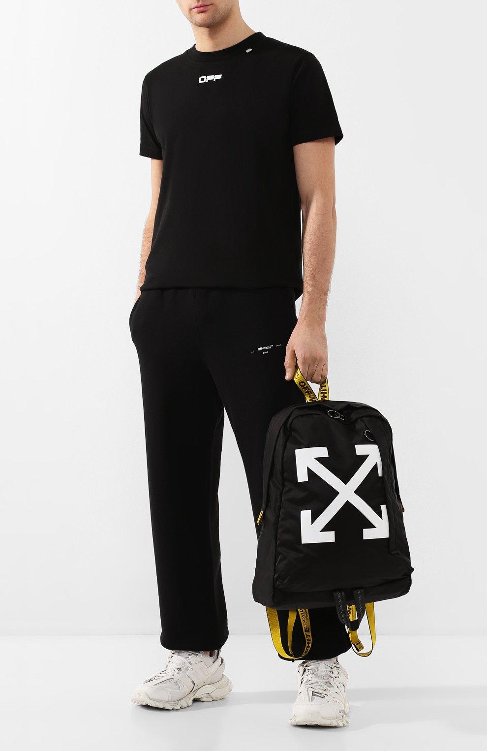 Мужской текстильный рюкзак OFF-WHITE черного цвета, арт. 0MNB019R20E480231001 | Фото 2