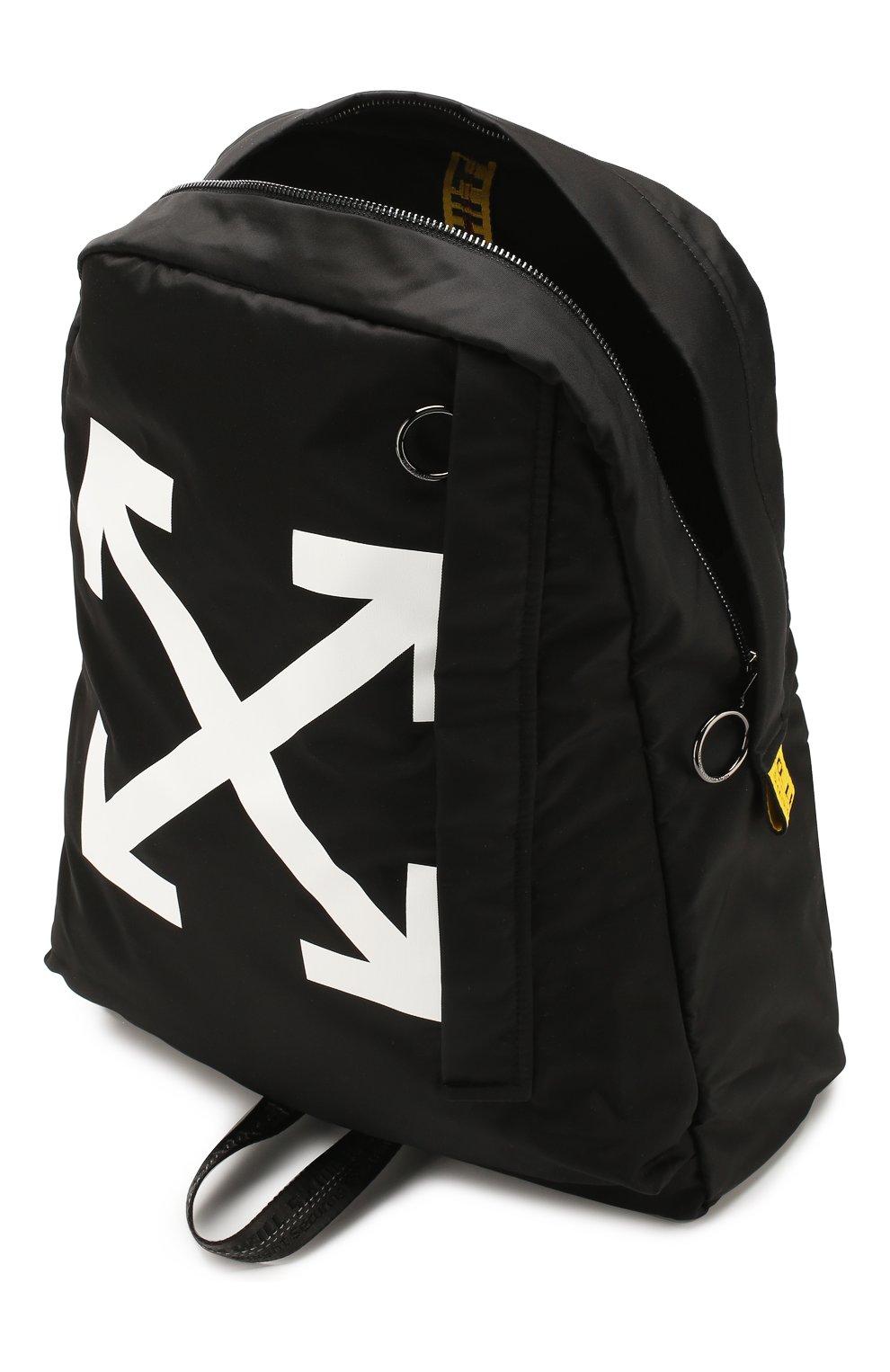 Мужской текстильный рюкзак OFF-WHITE черного цвета, арт. 0MNB019R20E480231001 | Фото 4
