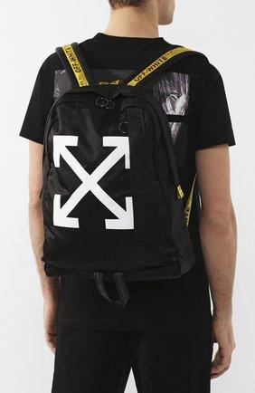 Мужской текстильный рюкзак OFF-WHITE черного цвета, арт. 0MNB019R20E480231001 | Фото 5