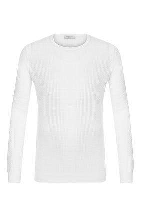 Мужской хлопковый джемпер GRAN SASSO белого цвета, арт. 57144/20635 | Фото 1