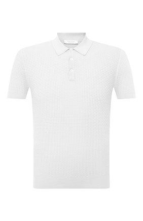 Мужское хлопковое поло GRAN SASSO белого цвета, арт. 57126/20635 | Фото 1