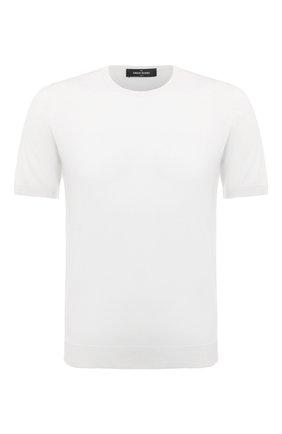 Мужской шелковый джемпер GRAN SASSO белого цвета, арт. 43112/23503 | Фото 1