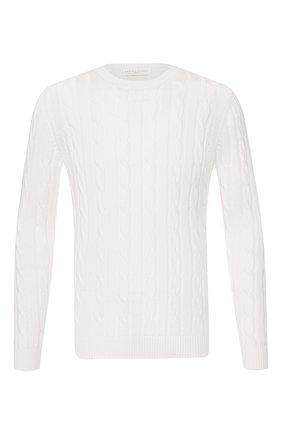 Мужской хлопковый свитер DANIELE FIESOLI белого цвета, арт. DF 0129 | Фото 1