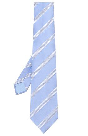 Мужской шелковый галстук ZILLI голубого цвета, арт. 50500/TIES | Фото 2