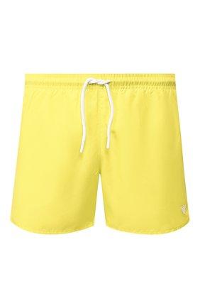 Детского плавки-шорты EMPORIO ARMANI желтого цвета, арт. 211752/0P438 | Фото 1