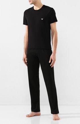 Мужские хлопковая футболка EMPORIO ARMANI черного цвета, арт. 110853/0P512 | Фото 2