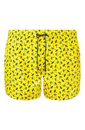 Мужские плавки-шорты DOLCE & GABBANA желтого цвета, арт. M4A06T/HSM2B | Фото 1 (Материал внешний: Синтетический материал; Принт: С принтом; Кросс-КТ: Пляж; Мужское Кросс-КТ: плавки-шорты)