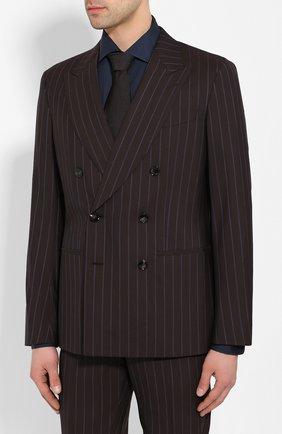 Мужской шерстяной костюм GIORGIO ARMANI коричневого цвета, арт. 0SGAV01L/T01JG | Фото 2