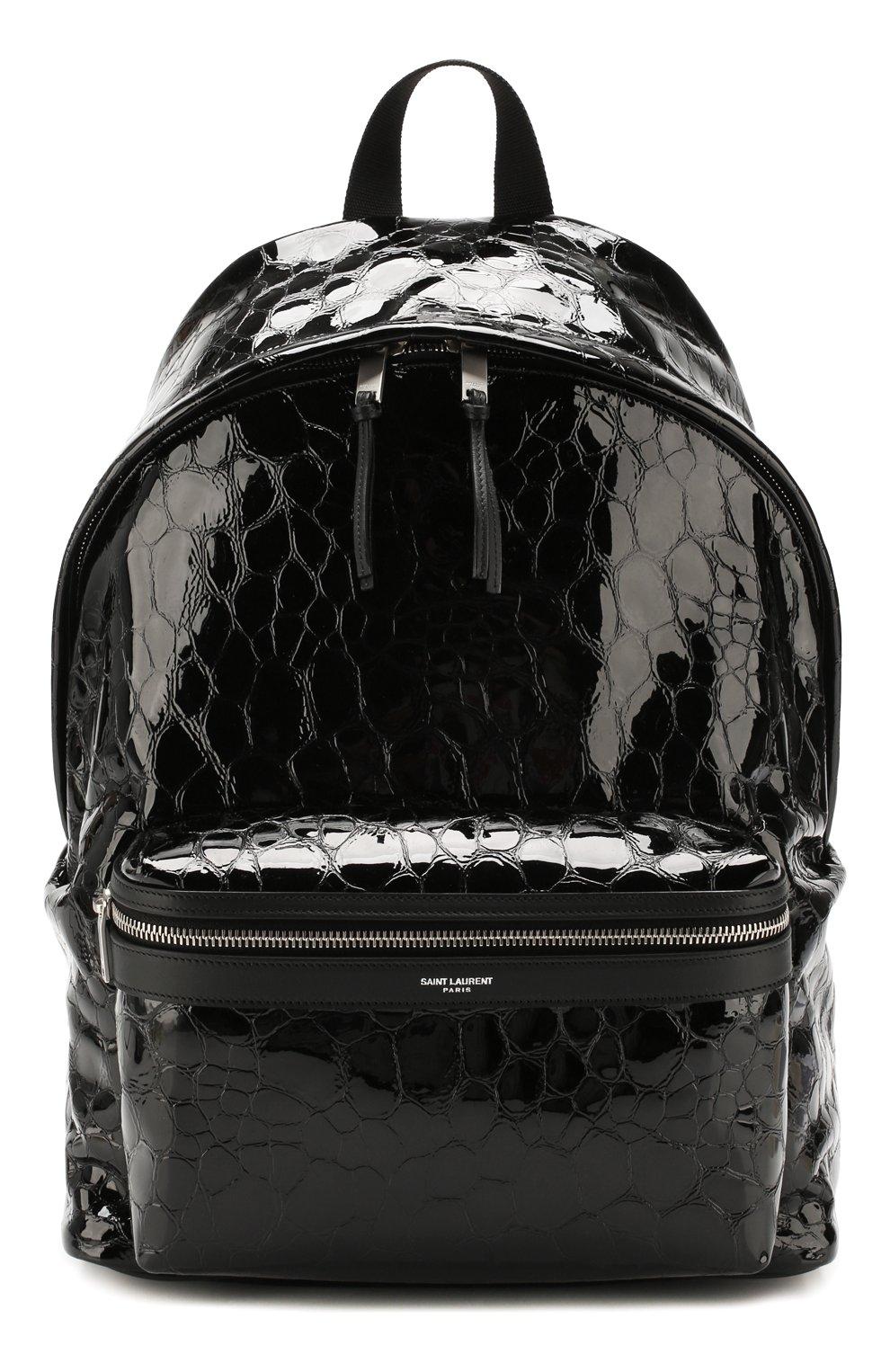 Мужской кожаный рюкзак city SAINT LAURENT черного цвета, арт. 534967/00X5F   Фото 1