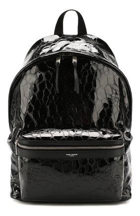 Мужской кожаный рюкзак city SAINT LAURENT черного цвета, арт. 534967/00X5F | Фото 1