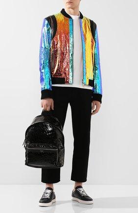 Мужской кожаный рюкзак city SAINT LAURENT черного цвета, арт. 534967/00X5F | Фото 2