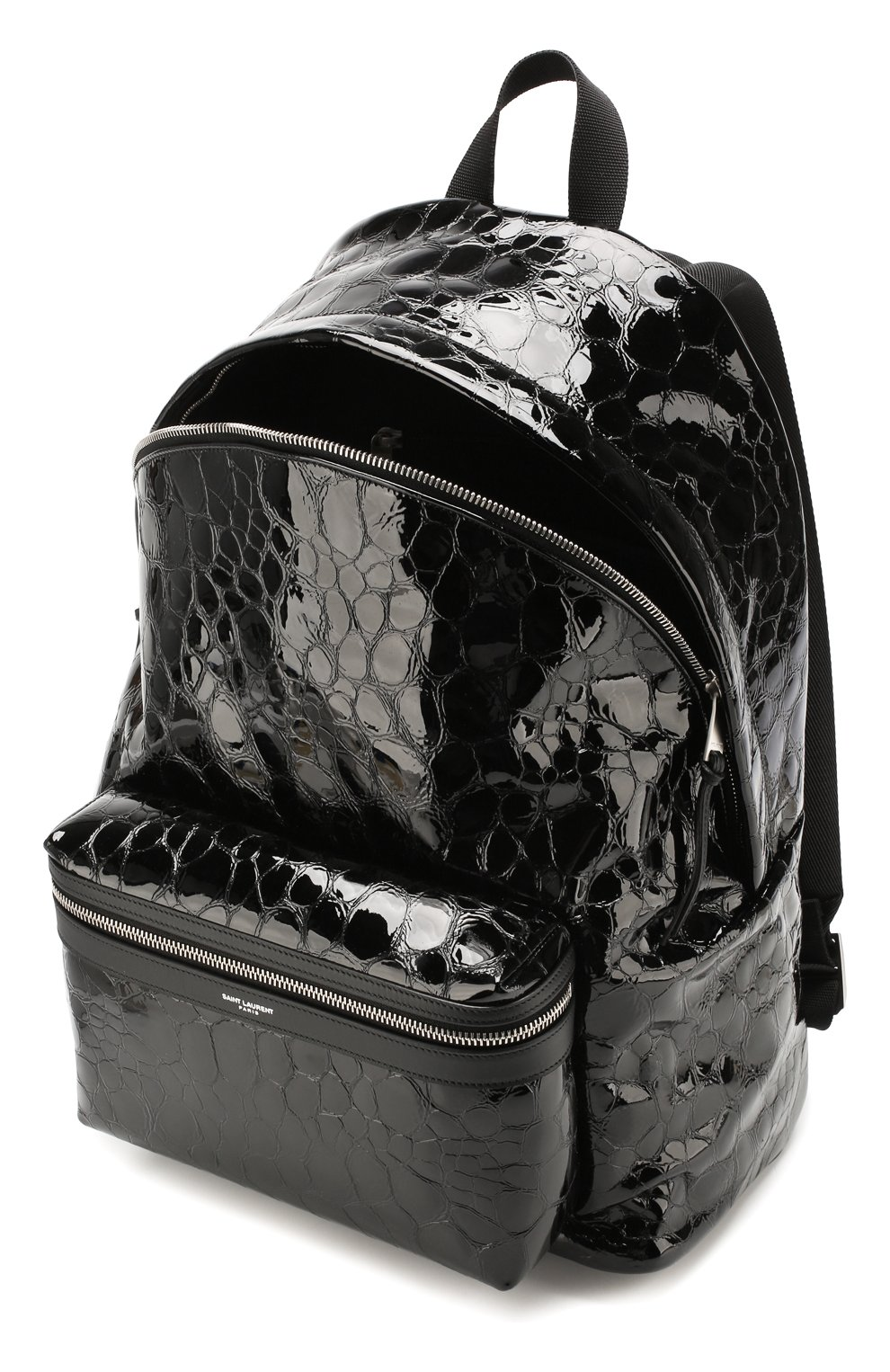 Мужской кожаный рюкзак city SAINT LAURENT черного цвета, арт. 534967/00X5F   Фото 4