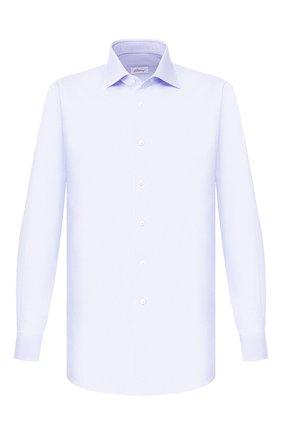 Мужская хлопковая сорочка BRIONI голубого цвета, арт. RCL810/P907L | Фото 1