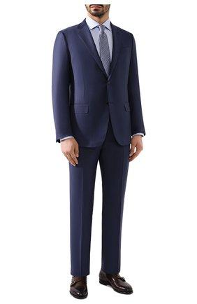 Мужская хлопковая сорочка BRIONI голубого цвета, арт. RCL810/P907L | Фото 2