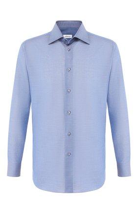 Мужская сорочка из смеси хлопка и льна BRIONI голубого цвета, арт. RCLU1T/P906V | Фото 1