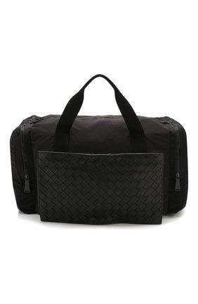 Мужская комбинированная дорожная сумка BOTTEGA VENETA черного цвета, арт. 609918/VCQG1 | Фото 1