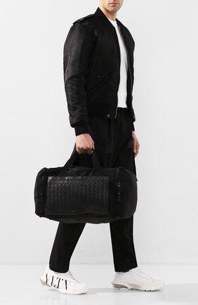 Мужская комбинированная дорожная сумка BOTTEGA VENETA черного цвета, арт. 609918/VCQG1 | Фото 2