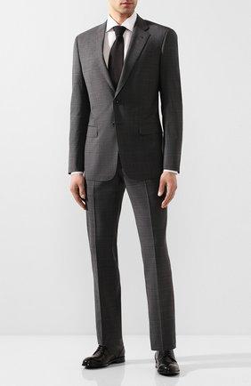 Мужской шерстяной костюм GIORGIO ARMANI темно-серого цвета, арт. 8WGAV001/T01H0 | Фото 1