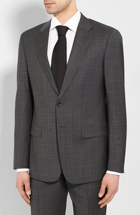Мужской шерстяной костюм GIORGIO ARMANI темно-серого цвета, арт. 8WGAV001/T01H0 | Фото 2