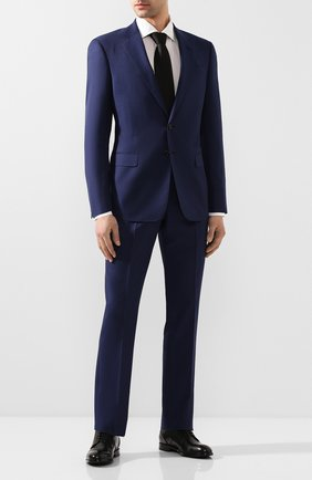 Мужской шерстяной костюм GIORGIO ARMANI синего цвета, арт. 8WGAV001/T00M0 | Фото 1