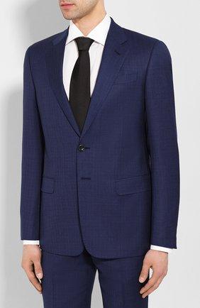 Мужской шерстяной костюм GIORGIO ARMANI синего цвета, арт. 8WGAV001/T00M0 | Фото 2